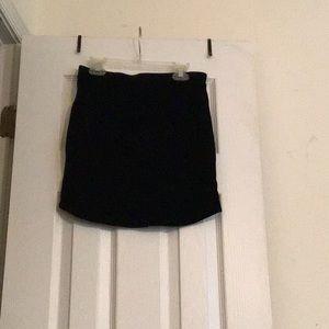 Small FOREVER21 velvet black mini skirt